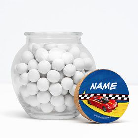 "Super Charged Personalized 3"" Glass Sphere Jars (Set of 12)"