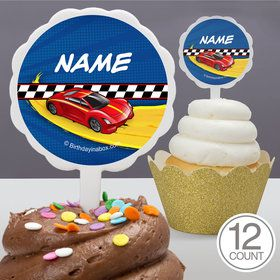 Super Charged Personalized Cupcake Picks (12 Count)