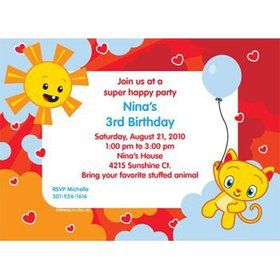 Super Happy Personalized Invitation (each)