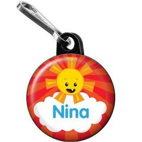 Super Happy Personalized Mini Zipper Pull (each)