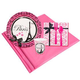 Paris Damask 8 Guest Party Pack