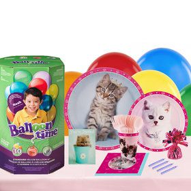 Glamour Cats 16 Guest Party Pack and Helium Kit by Rachael Hale