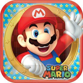 "Super Mario 9"" Luncheon Plates (8 Pack)"