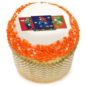 "Super Mario Bros 2"" Edible Cupcake Topper (12 Images)"