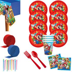 Super Mario Bros Deluxe Tableware Kit (Serves 8)