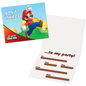 Super Mario Bros. Invitations