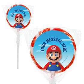 "Super Mario Bros. Mario Personalized 2"" Lollipops (20 Pack)"