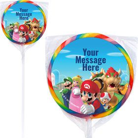 "Super Mario Bros. Personalized 3"" Lollipops (12 Pack)"