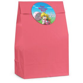 Super Mario Bros. Princess Peach Personalized Favor Bag (12 Pack)