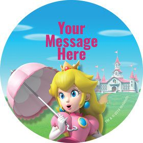 Super Mario Bros. Princess Peach Personalized Stickers (Sheet of 12)