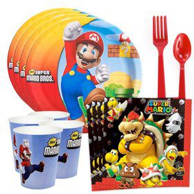 Super Mario Bros. Standard Tableware Kit (Serves 8)