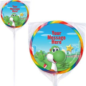 "Super Mario Bros. Yoshi Personalized 3"" Lollipops (12 Pack)"