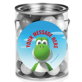 Super Mario Bros. Yoshi Personalized Mini Paint Cans (12 Count)