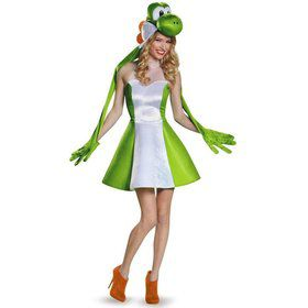 Super Mario Bros: Yoshi Womens Costume For Adults
