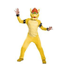 Super Mario Brothers Bowser Deluxe Kids Costume
