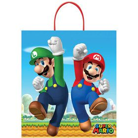 Super Mario Brothers Plastic Loot Bag (Each)