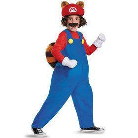 Super Mario Brothers Raccoon Deluxe Kids Costume