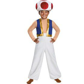 Super Mario Brothers Toad Deluxe Kids Costume