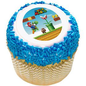 "Super Mario Kingdom 2"" Edible Cupcake Topper (12 Images)"