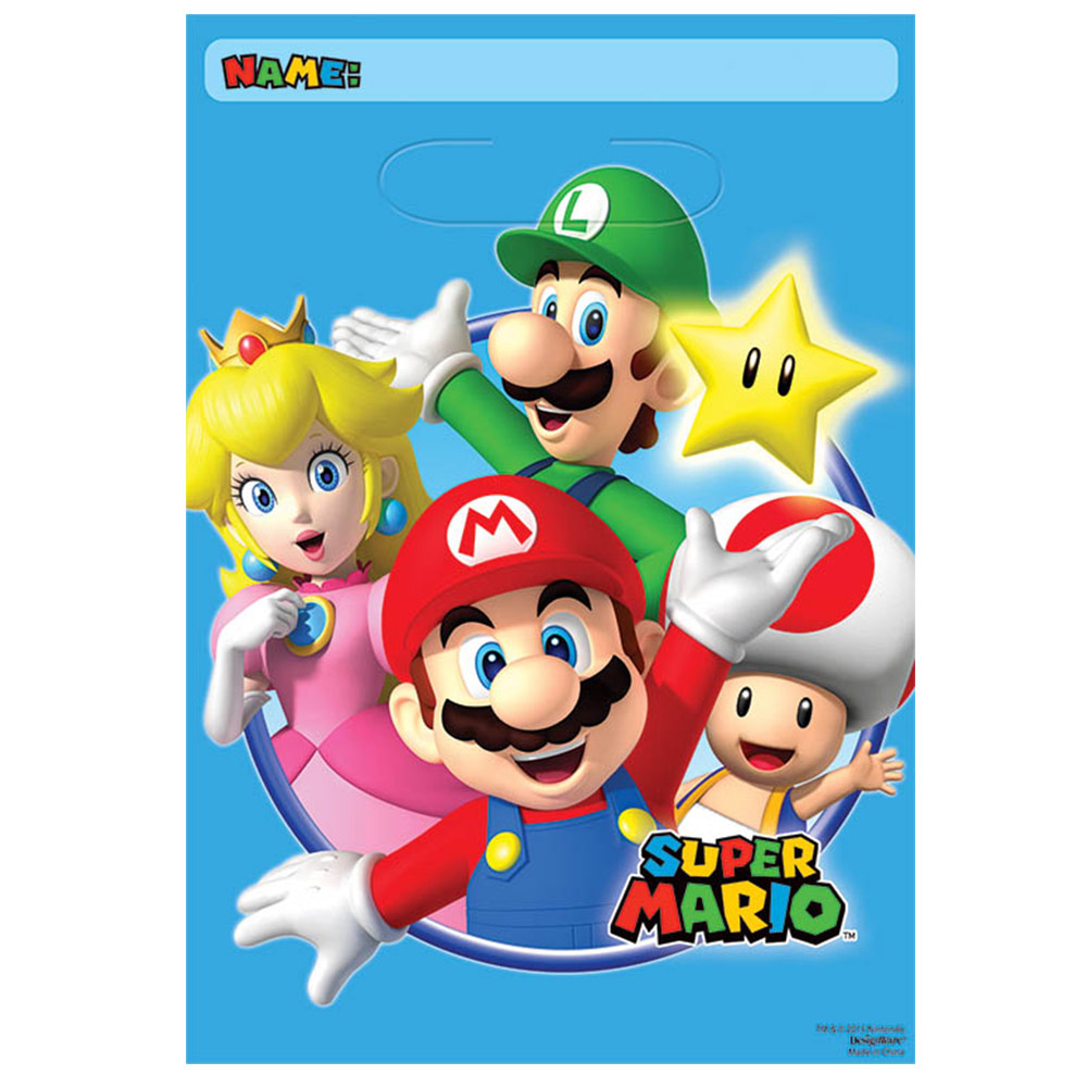 Super Mario Loot Bags (8 Pack) BB371554