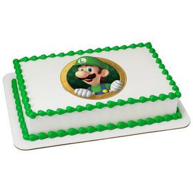 Super Mario Luigi Quarter Sheet Edible Cake Topper (Each)