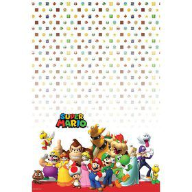 Super Mario Plastic Table Cover (Each)