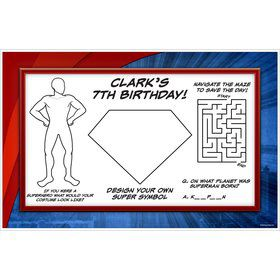 Super Superhero Personalized Activity Mat (8 Pack)