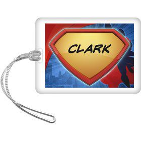 Super Superhero Personalized Bag Tag (Each)