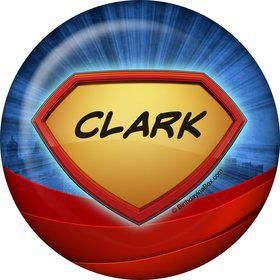 Super Superhero Personalized Button (Each)