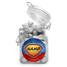Super Superhero Personalized Glass Apothecary Jars (10 Count)