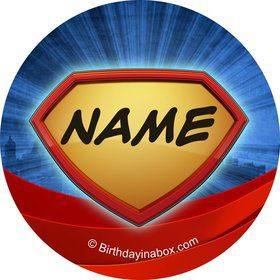 Super Superhero Personalized Mini Stickers (Sheet of 24)