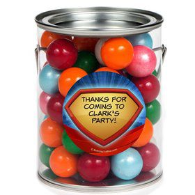 Super Superhero Personalized Paint Can Favor Container (6 Pack)
