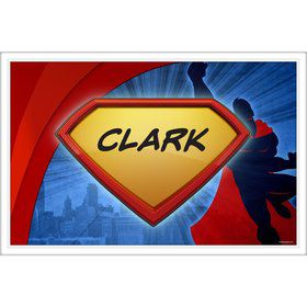 Super Superhero Personalized Placemat (Each)