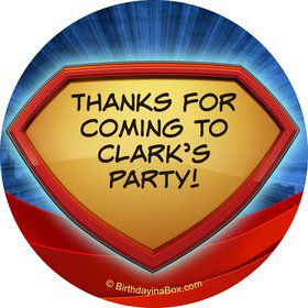 Super Superhero Personalized Stickers (Sheet Of 12)