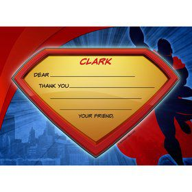Super Superhero Personalized Thank You Note (Each)