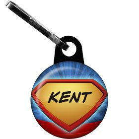 Super Superhero Personalized Zipper Pull (Each)