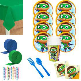 Super Why Deluxe Tableware Kit (Serves 8)
