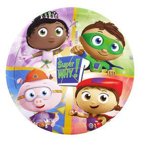 Super Why Dinner Plates