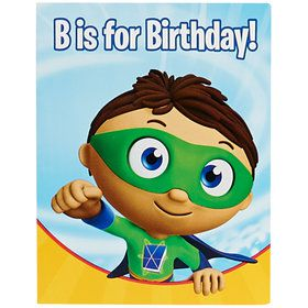 Super Why Invitations