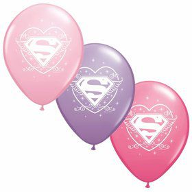 "Supergirl 12"" Latex Balloons (6 Pack)"