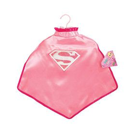 Supergirl Cape with Glitter Logo For Kids