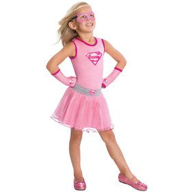 Supergirl Glitter Tutu Skirt For Kids