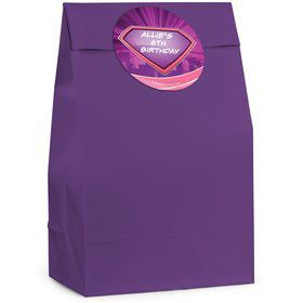 Supergirl Personalized Favor Bag (12 Pack)