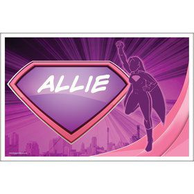 Supergirl Personalized Placemat (Each)