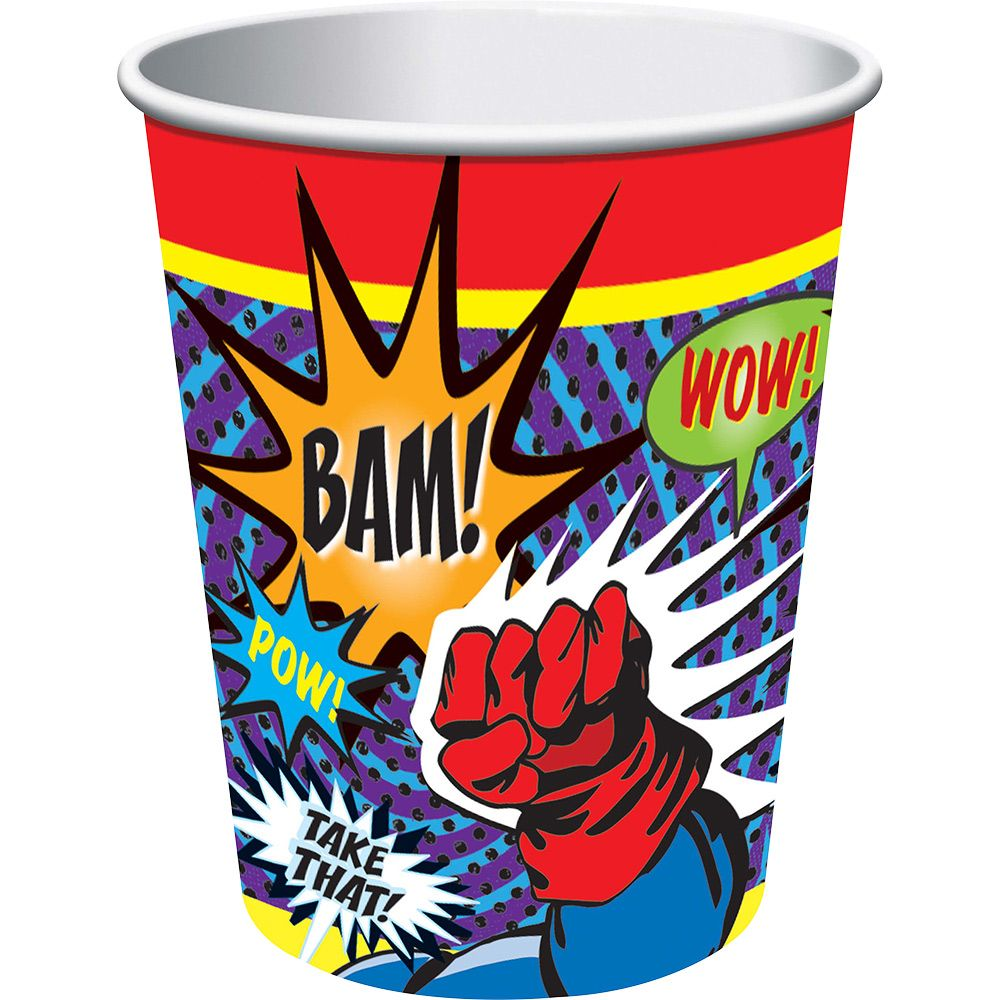 Superhero 9 Oz Cups (8 Pack) BB72437