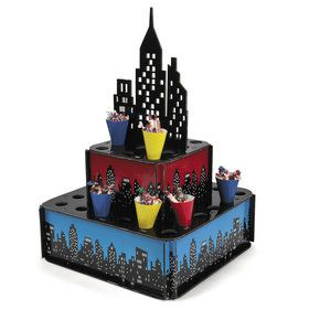 Superhero City Tray W Cones(1)
