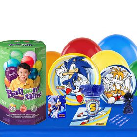 Sonic the Hedgehog 16 Guest Party Pack and Helium Kit