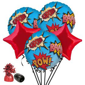 Superhero Comics Balloon Bouquet Kit