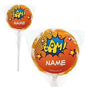 "Superhero Comics Personalized 2"" Lollipops (20 Pack)"