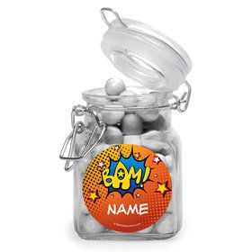Superhero Comics Personalized Glass Apothecary Jars (10 Count)